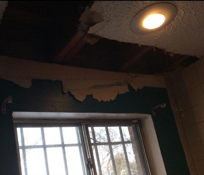 Ceiling damaged dry wall
