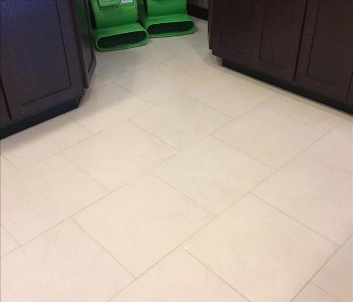 Tile floors after SERVPRO was done with them